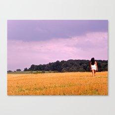 Soy Bean Fields Canvas Print