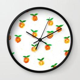 Tangerine splash Wall Clock