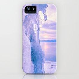 Ice cliff of Lake Baikal iPhone Case