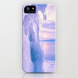 Ice cliff of Lake Baikal iPhone Case