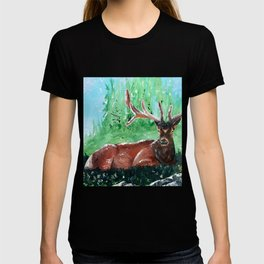 "Deer - Animal - ""Time to relax"" - by LiliFlore T-shirt"