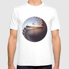circular beach SMALL White Mens Fitted Tee