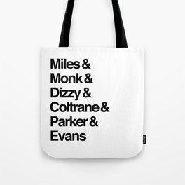 Jazz Legends Tote Bag