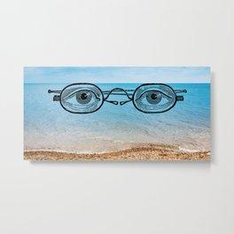 eyes and ocean Metal Print