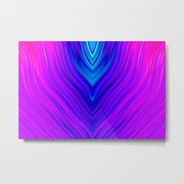 stripes wave pattern 3 s60 Metal Print