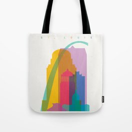Shapes of St. Louis. Accurate to scale Tote Bag