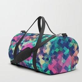 Fruity Rose - Fancy Colorful Abstraction Pattern Design (green pink blue) Duffle Bag