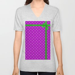 Green bow Unisex V-Neck