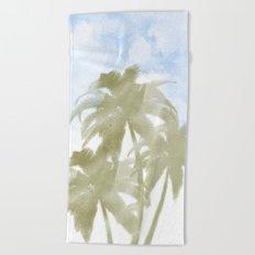 Palms and the sky Beach Towel
