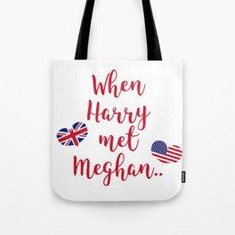 When Harry met Meghan | Fun Royal Wedding Tote Bag