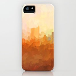 Austin, Texas Skyline - In the Clouds iPhone Case