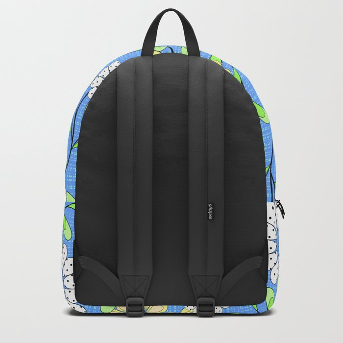 Bright floral pattern. Backpack