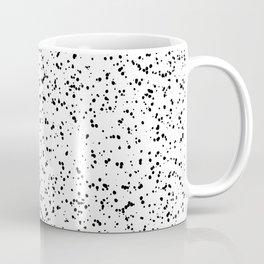 Speckles I: Double Black on White Coffee Mug