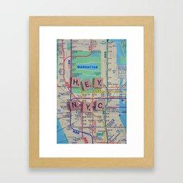 New York City, NYC Map, Subway, Travel Framed Art Print