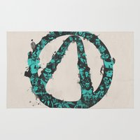 borderlands Area & Throw Rugs featuring Borderlands 2 by Bill Pyle