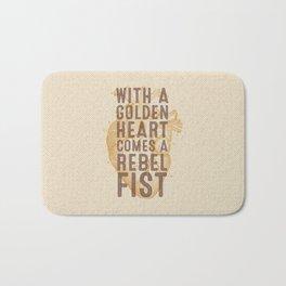 Golden Heart Bath Mat