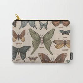 Butterflies and Moth Specimens Carry-All Pouch