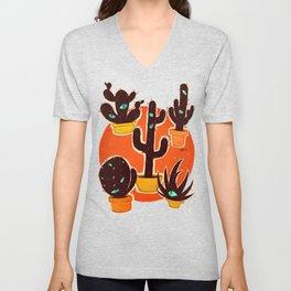 Cat//Cactus Unisex V-Neck
