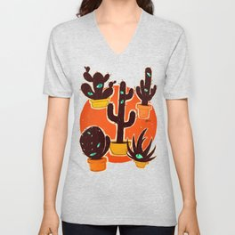 Cat//Cactus Unisex V-Neck