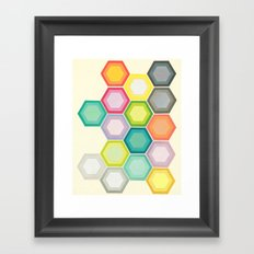 Honeycomb Layers Framed Art Print