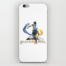 legend of korra of fire and water iPhone Skin