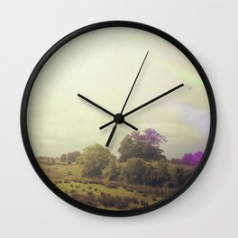Road Trip Across the Irish Countryside Wall Clock
