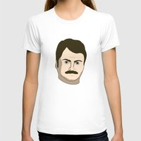 ron swanson T-shirts featuring Ron Swanson by irosebot