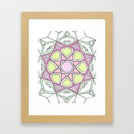 Pink Green Eight Fold Framed Art Print