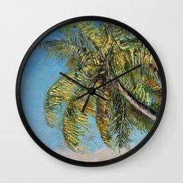 Windy Palm Wall Clock