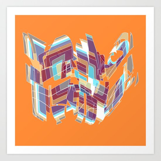 Open on Orange Art Print