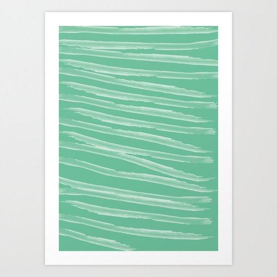 Pastel Green Art Print
