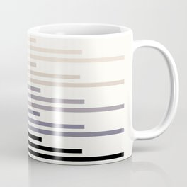 Grey Minimalist Abstract Mid Century Modern Staggered Thin Stripes Watercolor Painting Coffee Mug
