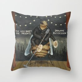 Snowmine Buzzsession Cover Art Throw Pillow