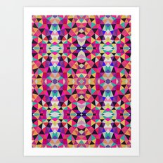 Neon Mess Tribal Art Print