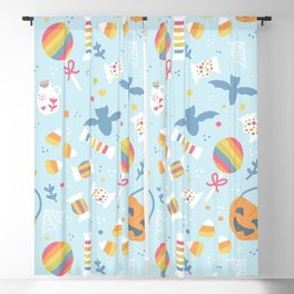 Trick or Treat Pastel Halloween Blackout Curtain