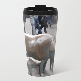 Pigs in Bremen Travel Mug