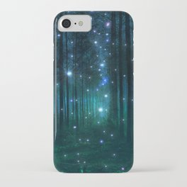 Glowing Space Woods iPhone Case