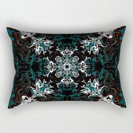 Black and Teal Graphic Design Rectangular Pillow