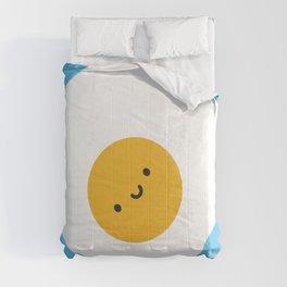 Kawaii Fried Egg Comforters