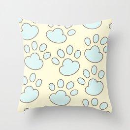 cat paws pattern Throw Pillow