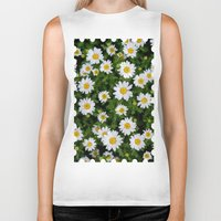 daisies Biker Tanks featuring Daisies by Mauricio Togawa
