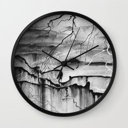 In The Shadow Of The Mountain Wall Clock