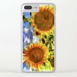 Sunflowers Vincent Van Goth Clear iPhone Case
