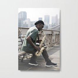 Saxophone player Metal Print