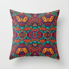 Boho Geometric Pattern 16 Throw Pillow