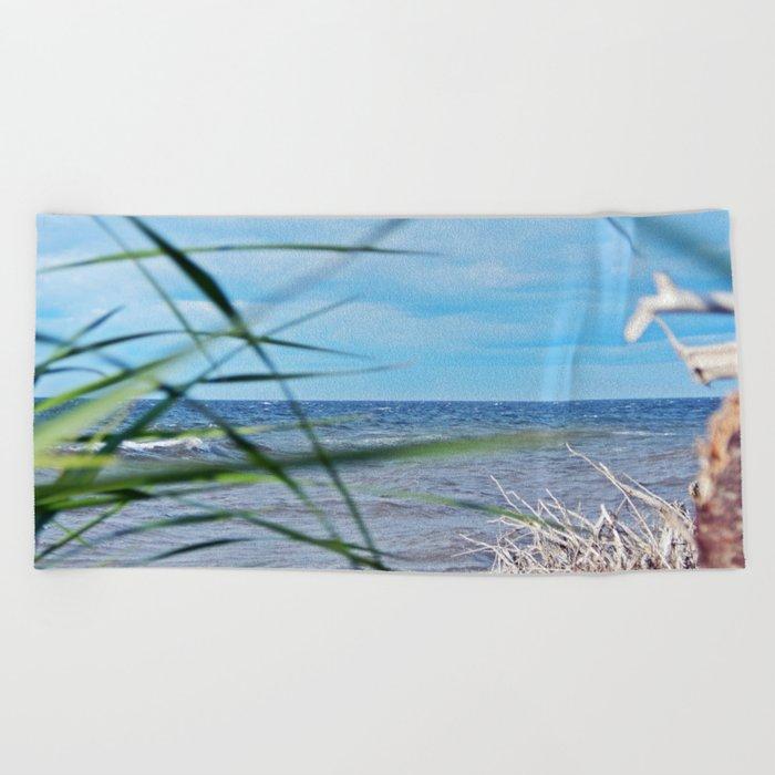 Secluded Beach Beach Towel