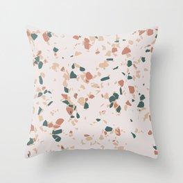 Terrazzo Peach Throw Pillow