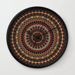Mandala (Ethnic Dance) Wall Clock