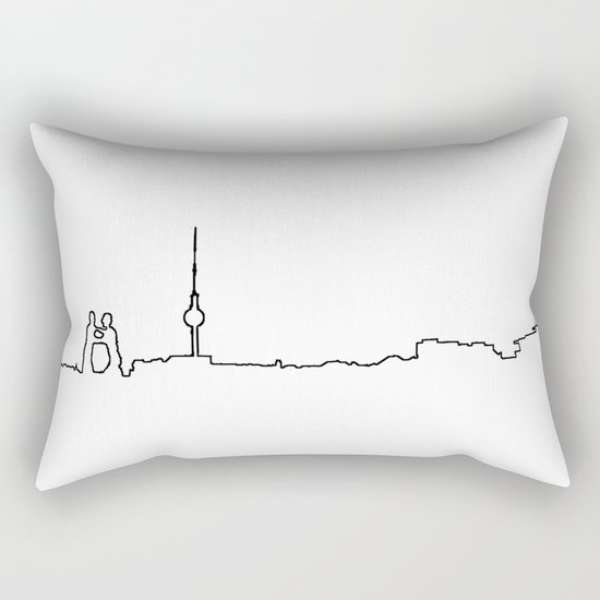 Berlin Life Line Rectangular Pillow