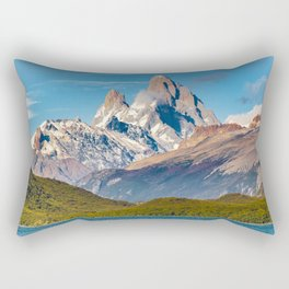 Lake and Andes Mountains, Patagonia - Argentina Rectangular Pillow